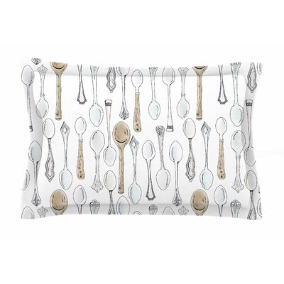 Spoons by Stephanie Vaeth Pillow Sham Size: Queen