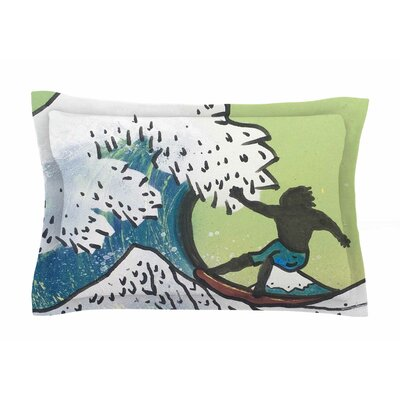 Hokusai Remake by Infinite Spray Art Pillow Sham Size: Queen