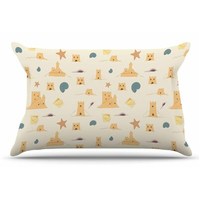 Sandcastles by Stephanie Vaeth Pillow Sham Size: King