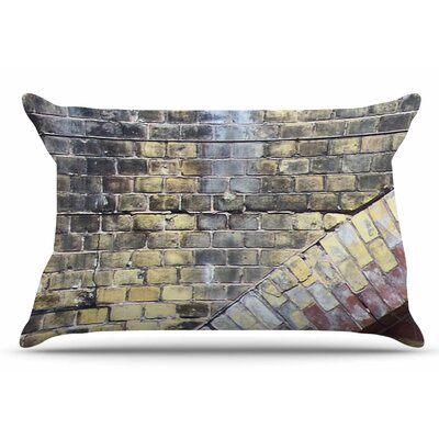 Painted Grunge Brick Wall by Susan Sanders Pillow Sham Size: King