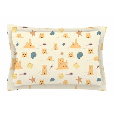 Sandcastles by Stephanie Vaeth Pillow Sham Size: Queen
