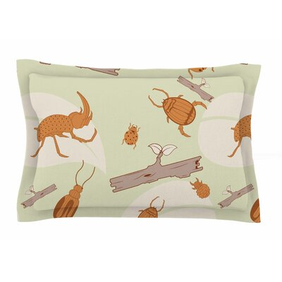 Beetles by Stephanie Vaeth Pillow Sham Size: Queen