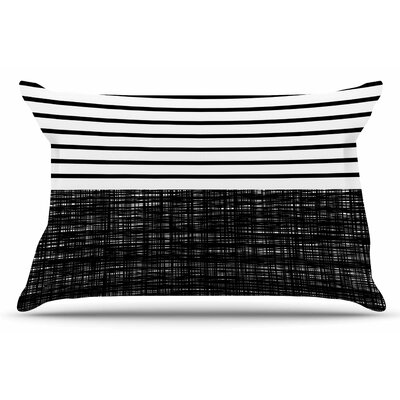 Platno (with Black Stripes) by Trebam Pillow Sham Size: King
