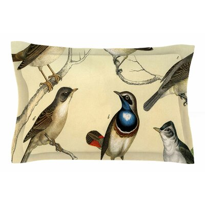 Vintage Birds by Suzanne Carter Pillow Sham Size: Queen