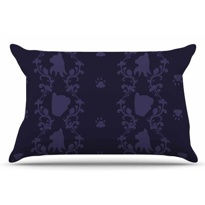 Cat Damask by Stephanie Vaeth Pillow Sham Size: King