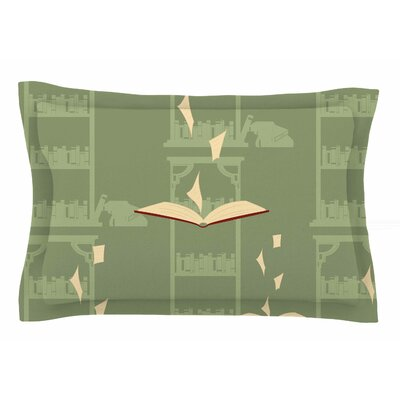 Library by Stephanie Vaeth Pillow Sham Size: Queen
