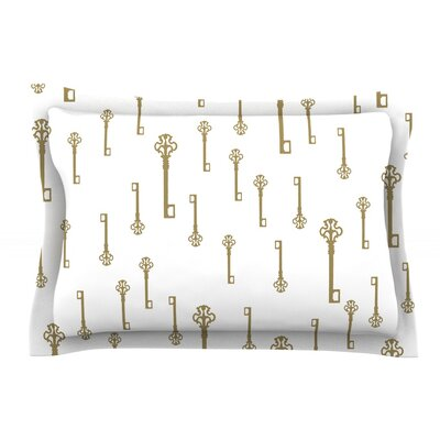 Vintage Keys II by Suzanne Carter Pillow Sham Size: Queen