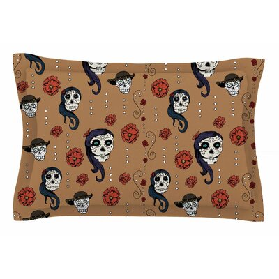 Calaveras by Stephanie Vaeth Pillow Sham Size: Queen