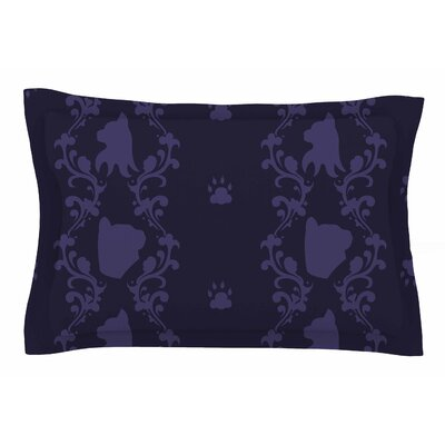 Cat Damask by Stephanie Vaeth Pillow Sham Size: Queen