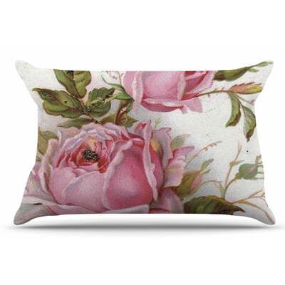 Vintage Rose by Suzanne Carter Pillow Sham Size: King