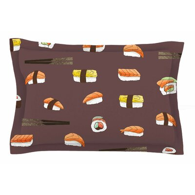 Sushi Pattern by Strawberringo Pillow Sham Size: Queen