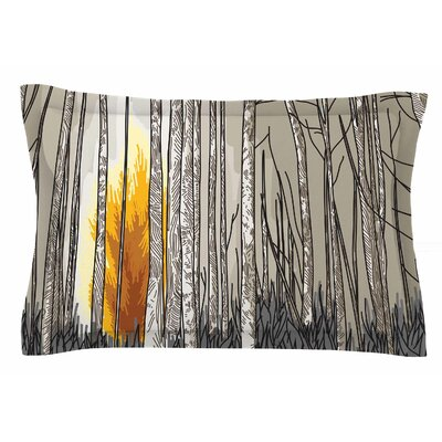 Smokey Forest Fire by Sam Posnick Pillow Sham Size: Queen