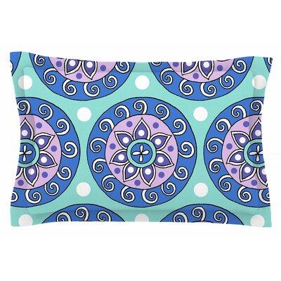 Mandala Dot by Sarah Oelerich Pillow Sham Size: Queen