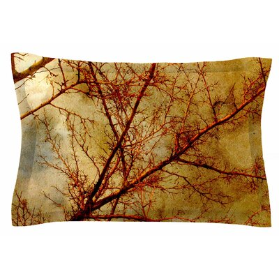 Gothic Tree by Sylvia Coomes Pillow Sham Size: Queen