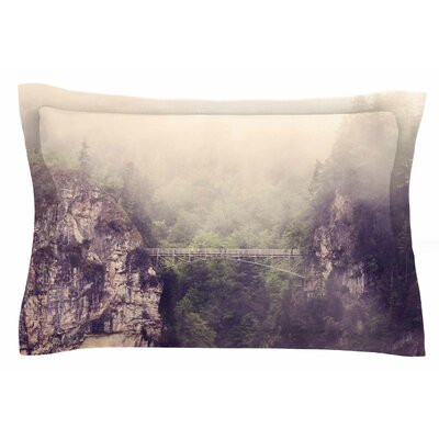 Foggy Mountain Landscape by Sylvia Coomes Pillow Sham Size: Queen