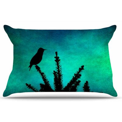 Bird Silhouette by Sylvia Coomes Pillow Sham Size: King