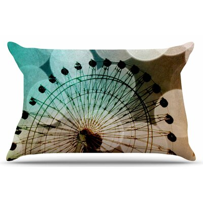 Ferris Wheel Silhouette by Sylvia Coomes Pillow Sham Size: King