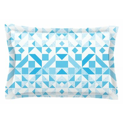 Light Geometric by Vasare Nar Pillow Sham Size: Queen