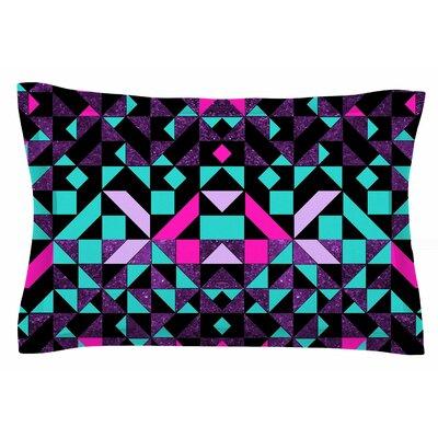 Geometric Galaxy by Vasare Nar Pillow Sham Size: Queen