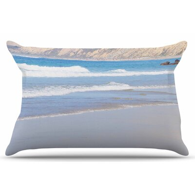 California Beach by Sylvia Coomes Pillow Sham Size: King