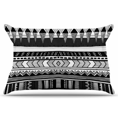 Tribal Black and White by Vasare Nar Pillow Sham Size: King