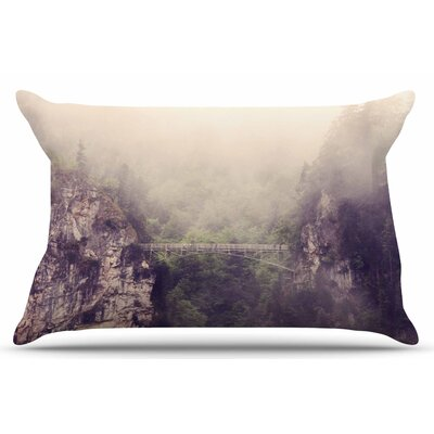 Foggy Mountain Landscape by Sylvia Coomes Pillow Sham Size: King