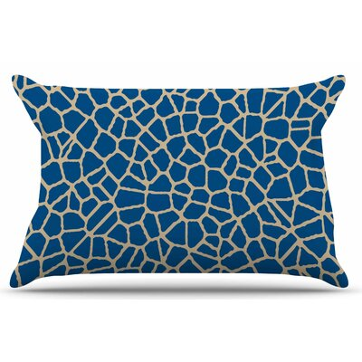 Staklo by Trebam Pillow Sham Color: Dark Blue/Coffee