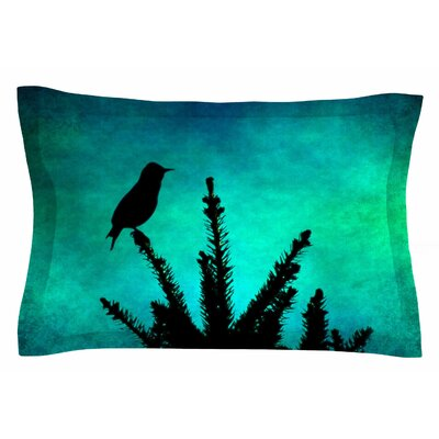 Bird Silhouette by Sylvia Coomes Pillow Sham Size: Queen