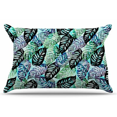 Tropical Leaves by Victoria Krupp Pillow Sham Size: King