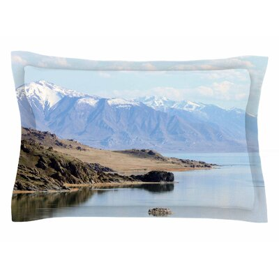Mountain Reflection by Sylvia Coomes Pillow Sham Size: Queen