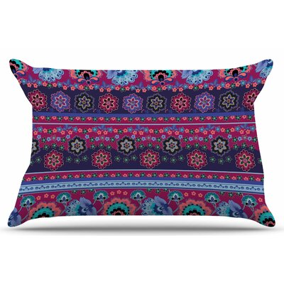 Folcloric Border by Victoria Krupp Pillow Sham Size: King