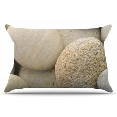 River Stones by Susan Sanders Pillow Sham Size: King