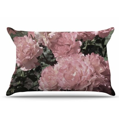Blush Flowers by Susan Sanders Pillow Sham Size: King