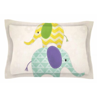 Balancing Act by Noonday Design Pillow Sham Size: Queen