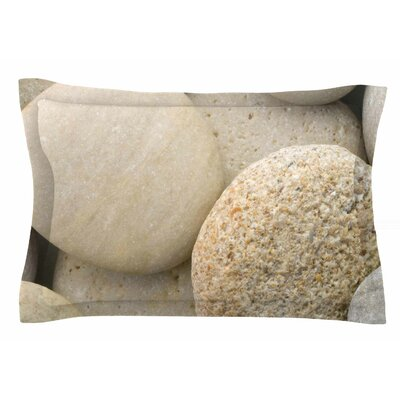 River Stones by Susan Sanders Pillow Sham Size: Queen