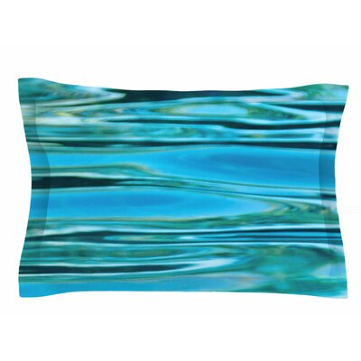 Water by Susan Sanders Pillow Sham Size: Queen