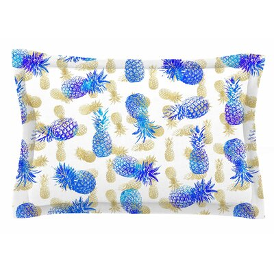 Pineapple Party by Noonday Design Pillow Sham Size: Queen