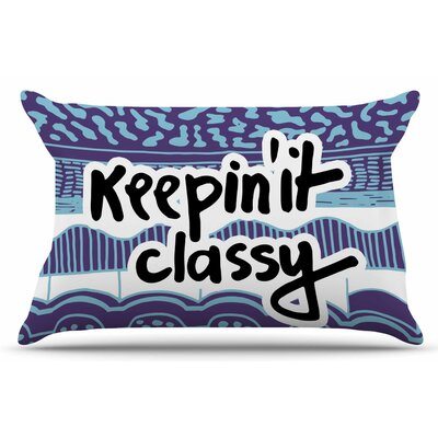 Keepin It Classy Purple by Vasare Nar Pillow Sham Size: King