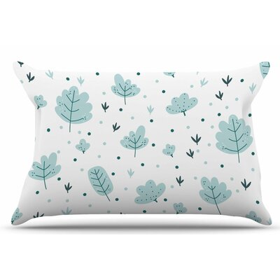 Leaves Pattern by Strawberringo Pillow Sham Size: King