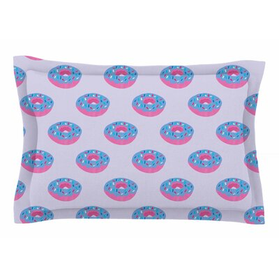 Pastel Doughnut Heaven by Vasare Nar Pillow Sham Size: Queen