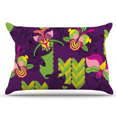 Orchids Festival by Yenty Jap Pillow Sham Size: King