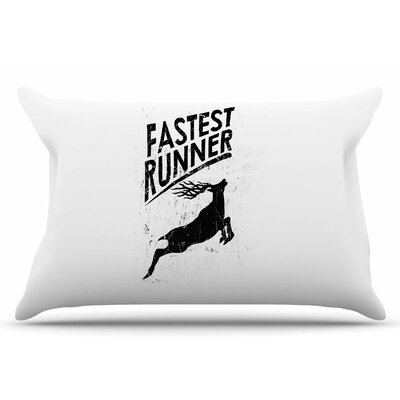 Fastest Runner by BarmalisiRTB Pillow Sham Size: King