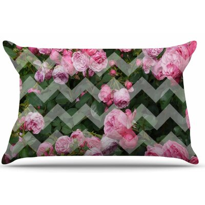 Chevron Rose by Suzanne Carter Pillow Sham Size: King