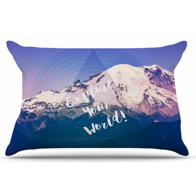 Explore Your World! by Robin Dickinson Pillow Sham Size: King