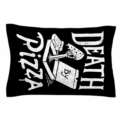 Death By Pizza by Tatak Waskitho Pillow Sham Size: Queen