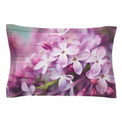 French Lilacs by Sylvia Cook Pillow Sham Size: Queen