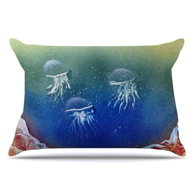 Underwater Aliens by Infinite Spray Art Pillow Sham Size: King
