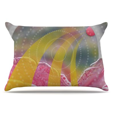 Enlightening by Infinite Spray Art Pillow Sham Size: King