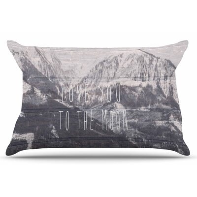 Love You to The Moon by Suzanne Carter Pillow Sham Size: King