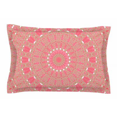 Boho Hearts Coral by Sylvia Cook Pillow Sham Size: Queen
